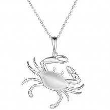 Alamea Sterling Silver Blue Crab Pendant