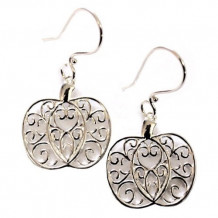 Southern Gates Sterling Silver Pumpkin Scroll Earrings