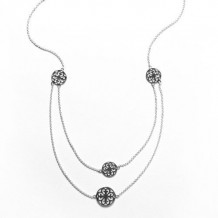 Southern Gates Sterling Silver Two-Tiered Necklace