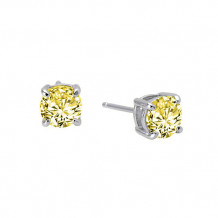 Sterling Silver Lassaire Simulated Diamond Earrings