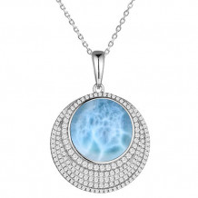 Alamea Sterling Silver and CZ Circle Pendant