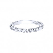Gabriel & Co. 14k White Gold Stackable Ladies' Ring