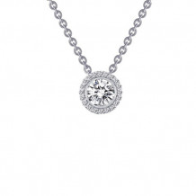 Sterling Silver Lassaire Simulated Diamond 18 Inch Necklace