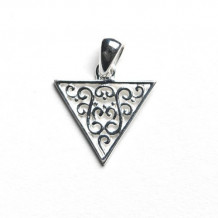 Southern Gates Sterling Silver Triangle Pendant