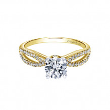 Gabriel & Co 14k Two-Tone Gold Split Shank Diamond Engagement Ring