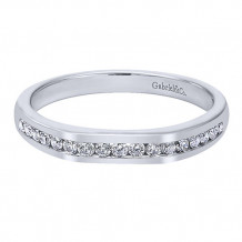 Gabriel & Co 14k White Gold Straight Anniversary Band
