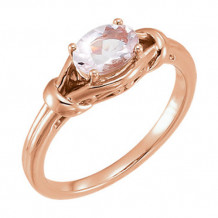 Stuller 14k Rose Gold Morganite Knot Ring
