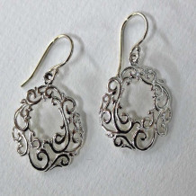 Southern Gates Sterling Silver Filigree Open Scroll Earrings