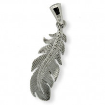 Southern Gates Sterling Silver Feather Pendant