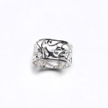 Southern Gates Sterling Silver Bird Design Band Ring
