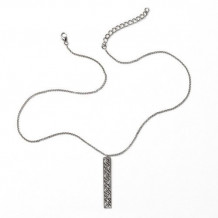 Southern Gates Sterling Silver Vertical Bar Pendant