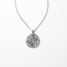 Southern Gates Sterling Silver Biltmore Stonefluer Pendant