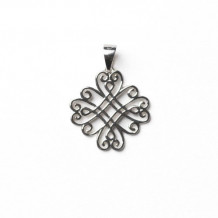 Southern Gates Sterling Silver Swirl Scroll Pendant