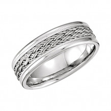 Stuller 14k White Gold Hand-Woven Comfort Fit Men's Wedding Band
