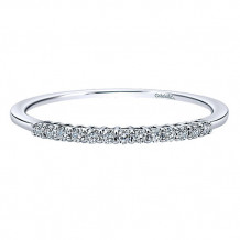 Gabriel & Co 14k White Gold Round Straight Anniversary Band