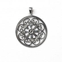 Southern Gates Sterling Silver Scroll Circle Pendant
