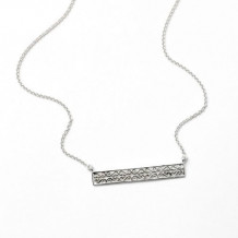 Southern Gates Sterling Silver Bar Necklace