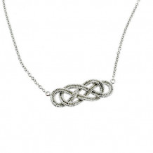 Southern Gates Harbor Series Sterling Silver Rope Knotted Necklace