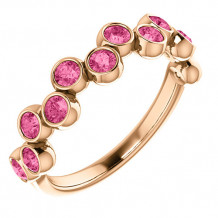 14k Rose Gold Stuller Pink Tourmaline Stackable Ring