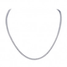 Sterling Silver Lassaire Simulated Diamond 15 Inch Necklace