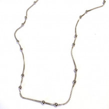 Southern Gates Sterling Silver Square Wheat Chain Necklace