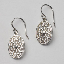 Southern Gates Sterling Silver Oval Drop Earrings