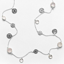 Southern Gates Sterling Silver Inspiration Rose Quartz Adjustable Necklace