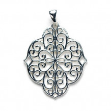 Southern Gates Sterling Silver Filigree Oblong Pendant