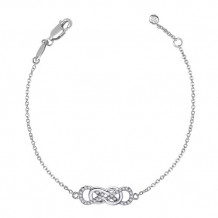 Sterling Silver Lassaire Simulated Diamond Bracelet