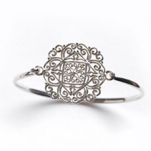 Southern Gates Sterling Silver Filigree Bangle Bracelet