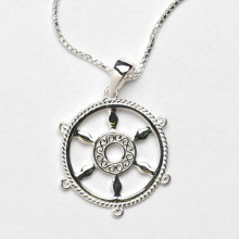 Southern Gates Harbor Series Sterling Silver Ship Wheel Pendant